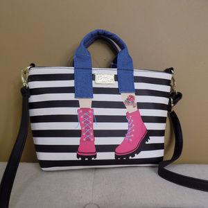 Betsey Johnson Handbag Girl Legs Crossbody Bag NEW